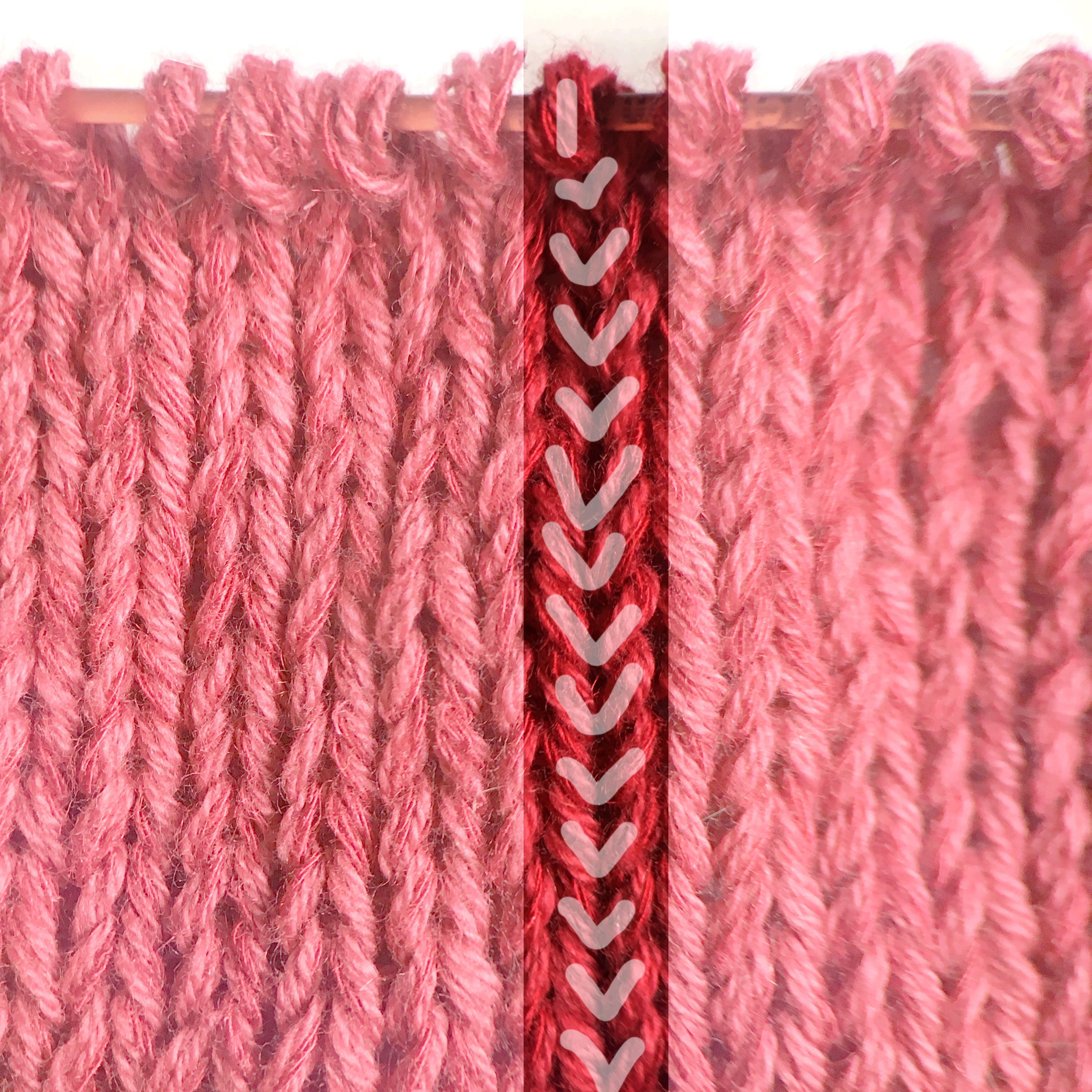 How to count knit rows