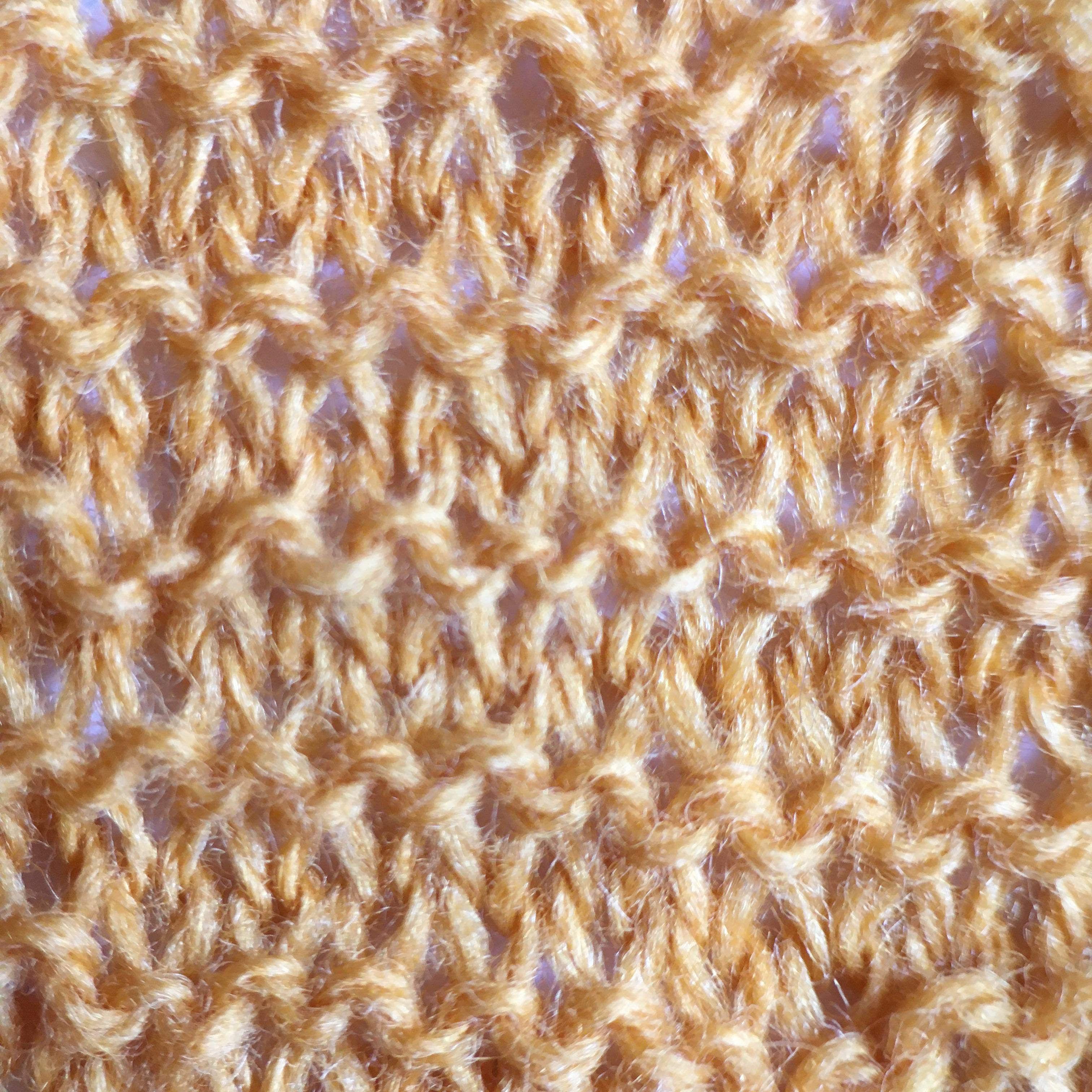 Stretched garter stitch